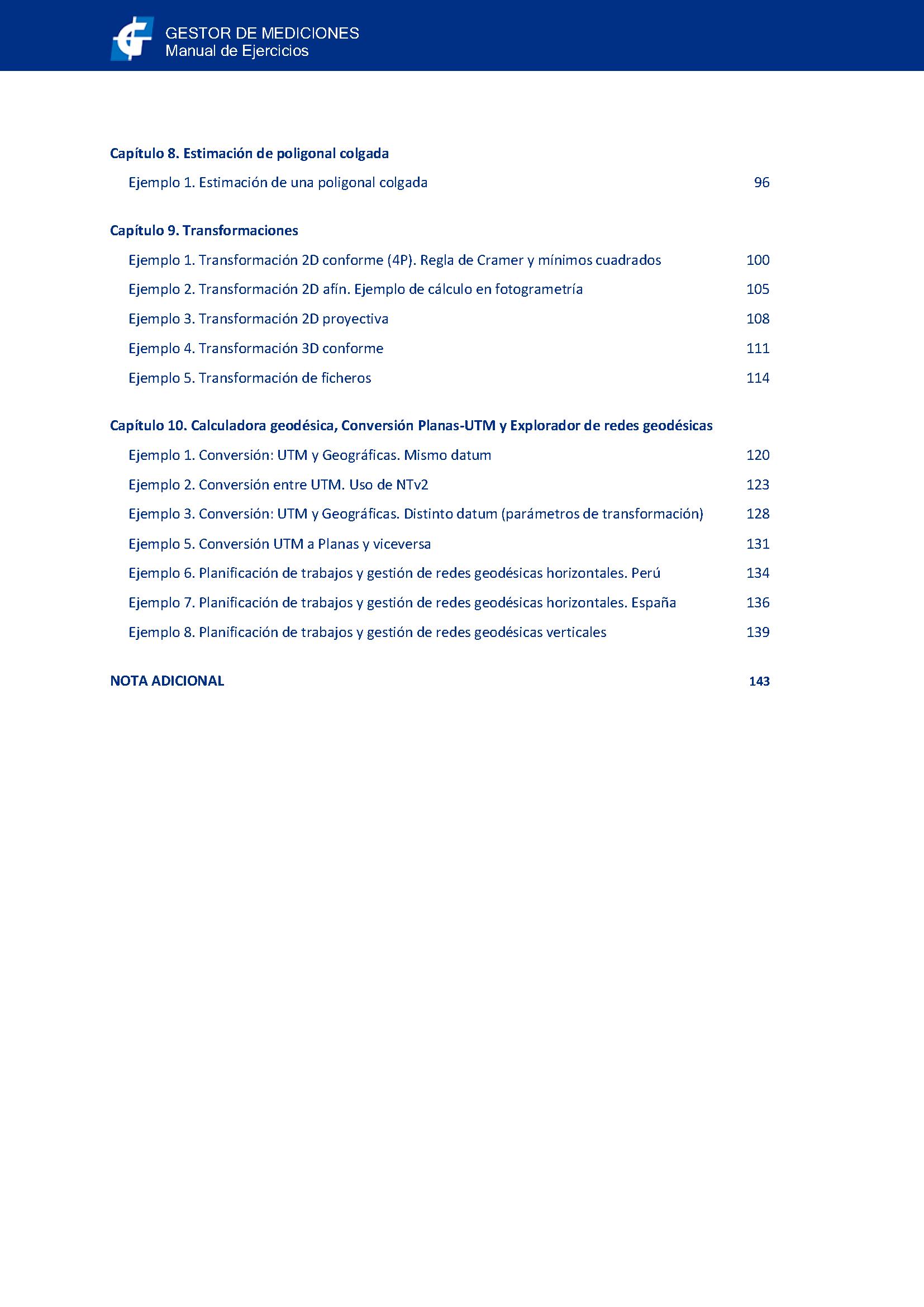 Cálculos y ajustes - Topoedu